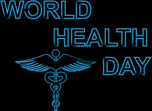 beautiful blue colorful concept medical background world health day vector design