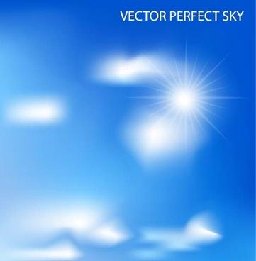 beautiful blue sky 02 vector