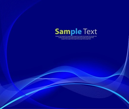 beautiful blue wave lines on a blue background vector graphic