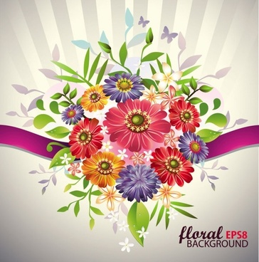 beautiful bouquet 03 vector