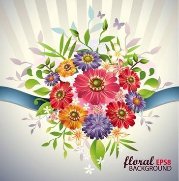beautiful bouquet 04 vector