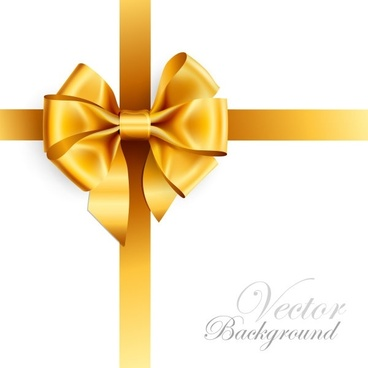 silk bow background yellow bright decoration realistic style