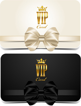beautiful bow with vip invitation card vector