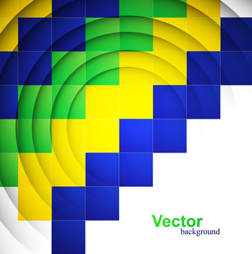 beautiful brazil flag concept colorful geometric texture background illustration