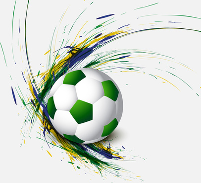 beautiful brazil flag concept grunge card colorful soccer background vector