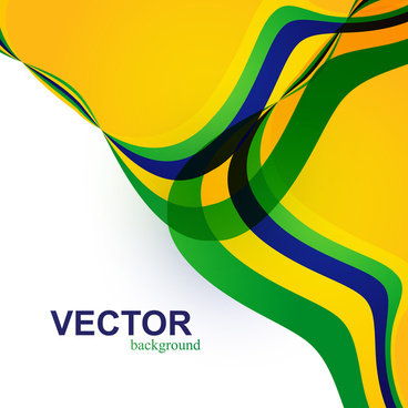 beautiful brazil flag wave concept colorful background