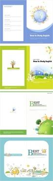 beautiful brochure 02 vector