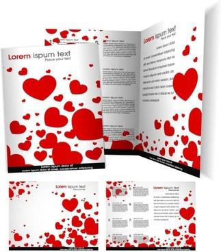 beautiful brochures and flyers 01 vector