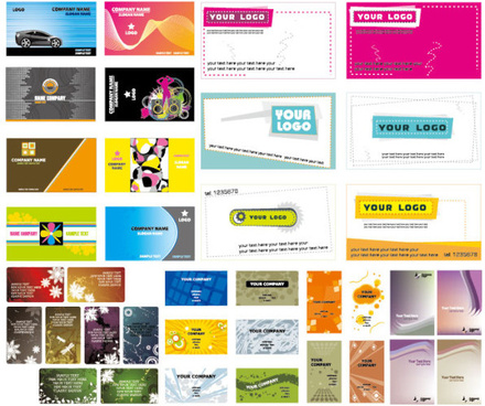 beautiful business card template vector graphic