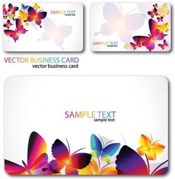 beautiful butterflies cards background vector