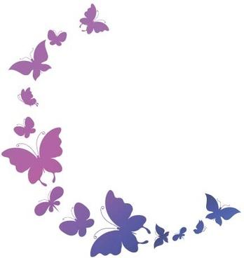 beautiful butterflies design vectors graphics