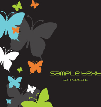 beautiful butterfly elements background vector