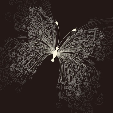 beautiful butterfly pattern 01 vector