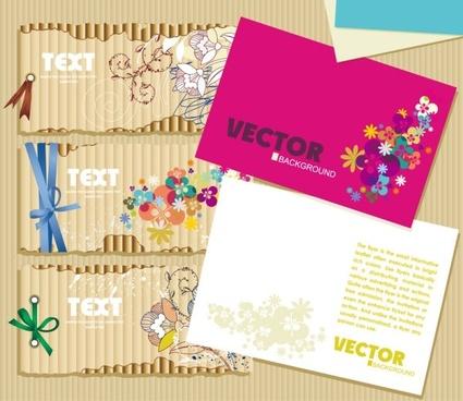 beautiful card 01 vector