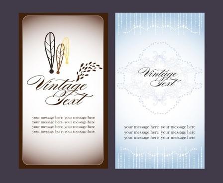 beautiful card 02 vector