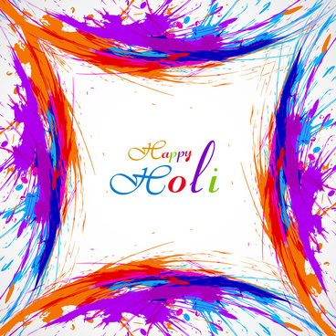 beautiful card colorful holi gulal presentation celebration festival vector background