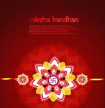 beautiful card raksha bandhan festival background