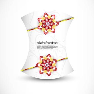 beautiful card raksha bandhan festival background vector