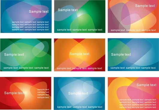 decorative background templates modern colorful transparent design