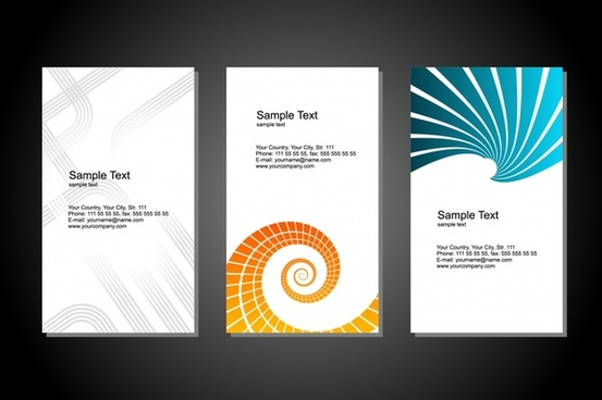 card templates bright modern abstract curved decor