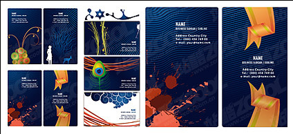 Beautiful card template vector material