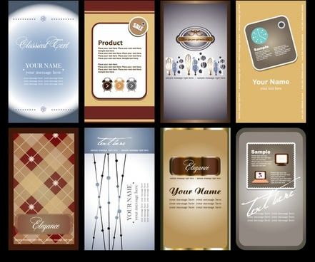 beautiful cards labels vector