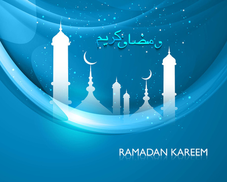 beautiful celebration ramadan kareem bright colorful vector