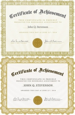 beautiful certificate template 4 vector