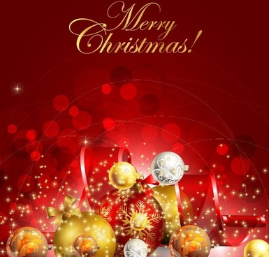 beautiful christmas background vector graphic