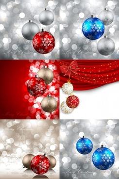 beautiful christmas ball 11 vector