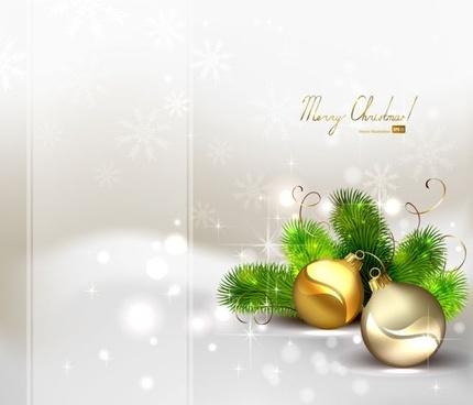 beautiful christmas ball background 04 vector