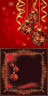 beautiful christmas ball background vector