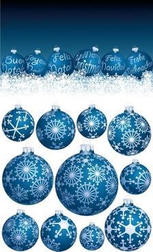 beautiful christmas ball vector