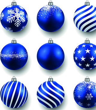 beautiful christmas balls caretive design vector