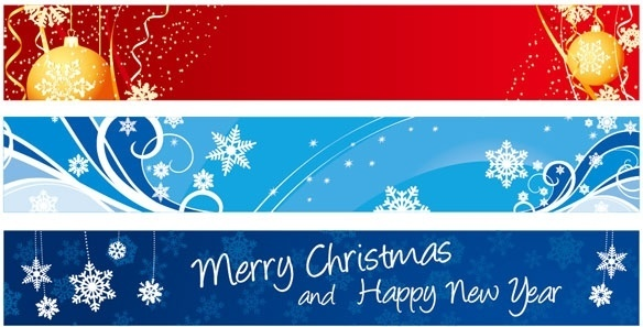 beautiful christmas banner banner vector