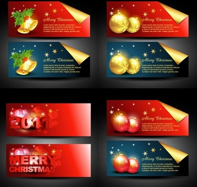beautiful christmas banner vector