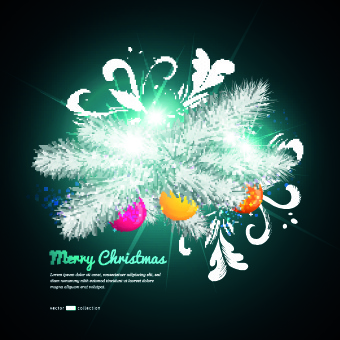 beautiful christmas baubles elements vector backgound
