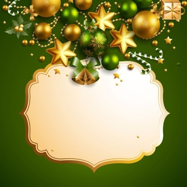 beautiful christmas border background 05 vector