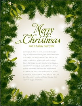 beautiful christmas border background vector