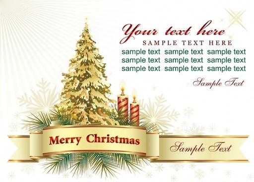beautiful christmas card background vector
