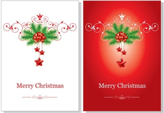 beautiful christmas cards vector - Christmas Photo Cards 2017