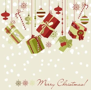 beautiful christmas design 02 vector