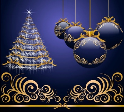 beautiful christmas design elements 46 highdefinition picture