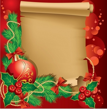 beautiful christmas frame vector