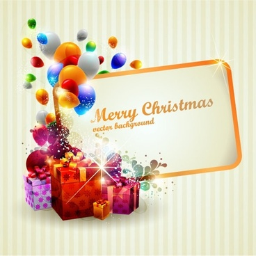 beautiful christmas gift box 02 vector