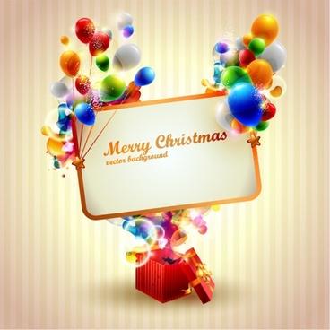 beautiful christmas gift box 04 vector