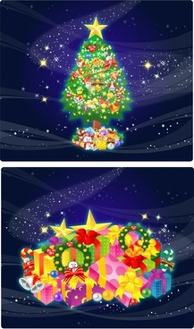 beautiful christmas gift vector