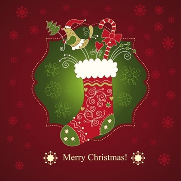 beautiful christmas greeting card 01 vector