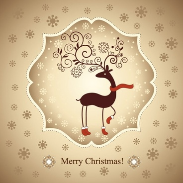beautiful christmas greeting card 02 vector