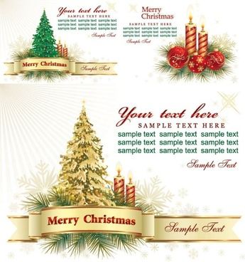 beautiful christmas greeting card background vector
